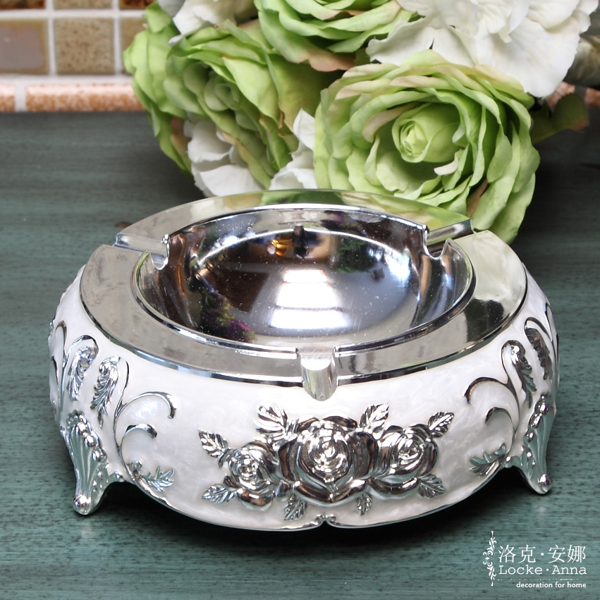 Anna locke european american retro silver ashtray ashtray large living room ornaments new home decoration to send gifts