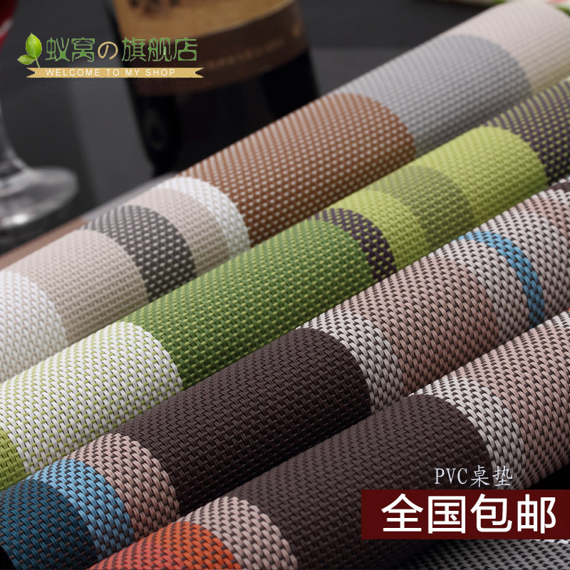 Ant nest quality table mats western mat placemat insulation mat color stripes shall slip insulation pad free shipping