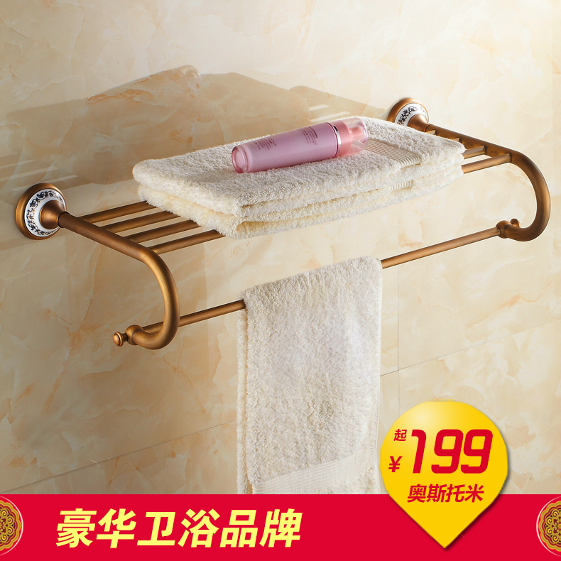 Antique ceramic bathroom accessories towel rack towel rack bathroom hardware accessories exquisite pendant