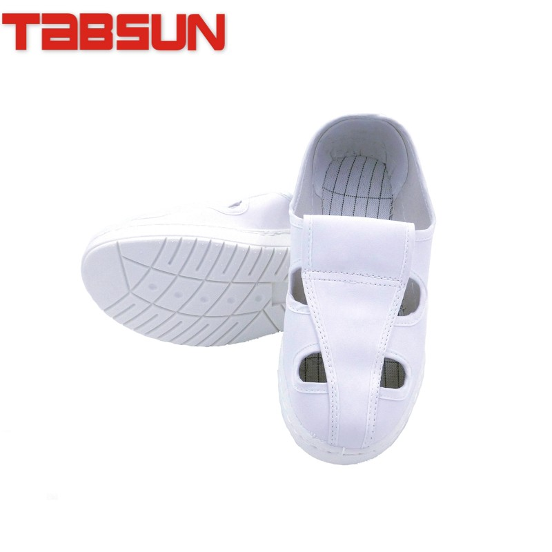 Antistatic spu tabsun quadripuntal white leather shoes thick soft bottom paragraph 710 shoes shoes shoes clean room purification plant
