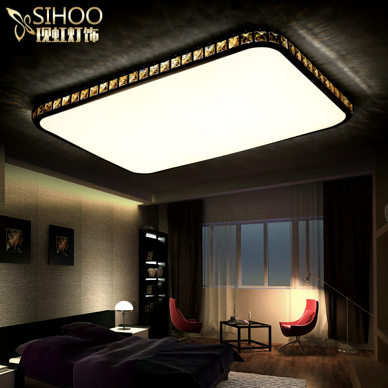 App now rainbow modern minimalist led crystal light rectangular living room lamp bedroom lamp lighting art ceiling decorations