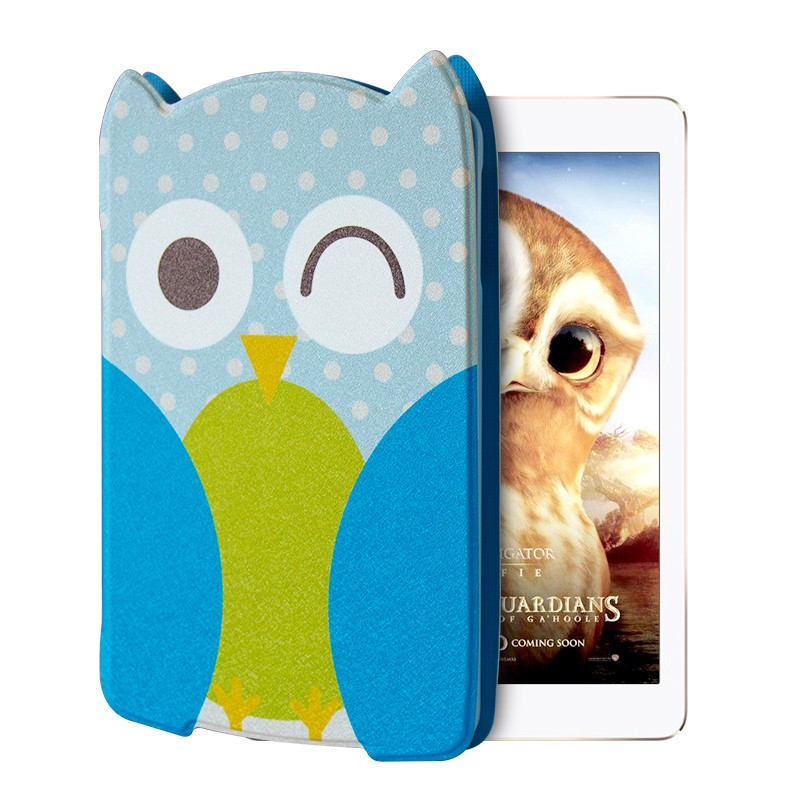 Apple ipad air2 protective sleeve ipad5/6 leather ipad air bracket cute cartoon protective shell