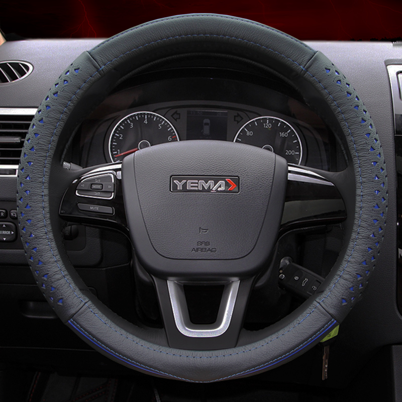 Applicable mustang f10/f12/f16/t70 seaview leather steering wheel cover four seasons general motors car to cover jushi