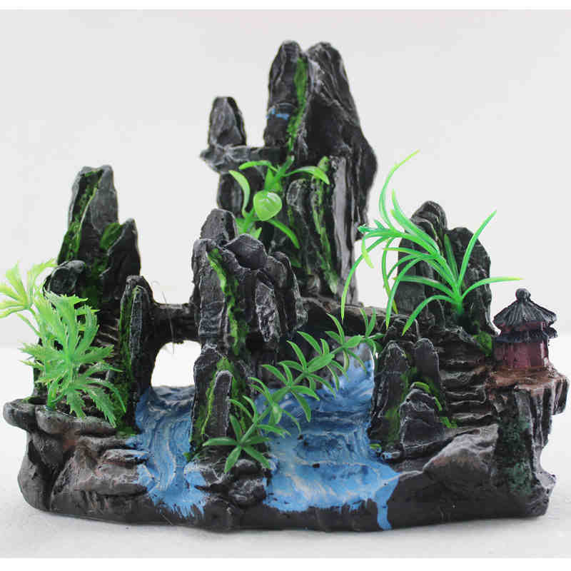 Aquarium fish tank rockery landscaping aquarium fish tank landscaping suit package shipping 60cm fish tank aquarium landscaping landscaping package sets YM941