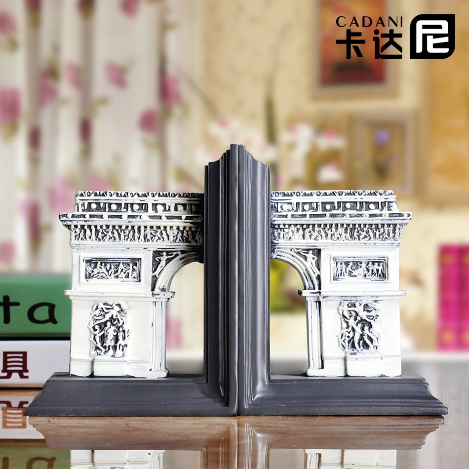 Arc de triomphe in paris cadani euclidian bookend bookend book by an author ornaments study model room soft furnishings