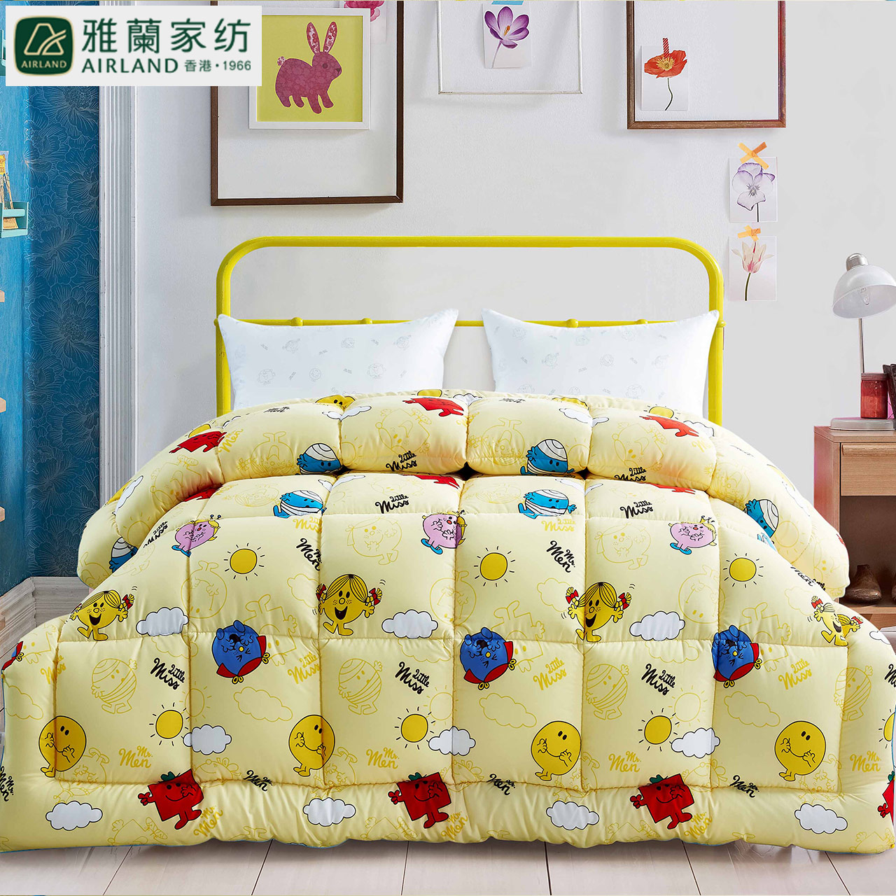 Arran textile english genuine o2o mr. men thick warm winter quilt is the core fibers are autumn and winter