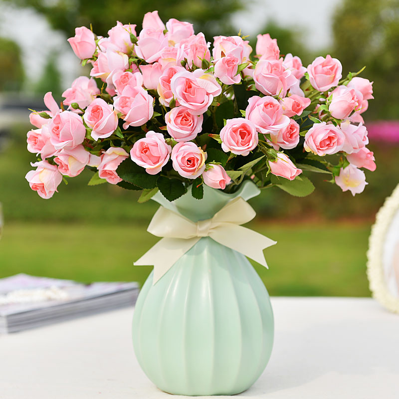 Artificial flowers artificial flowers plastic flowers suit the living room home decorations ornaments floral table flowers roses silk free shipping
