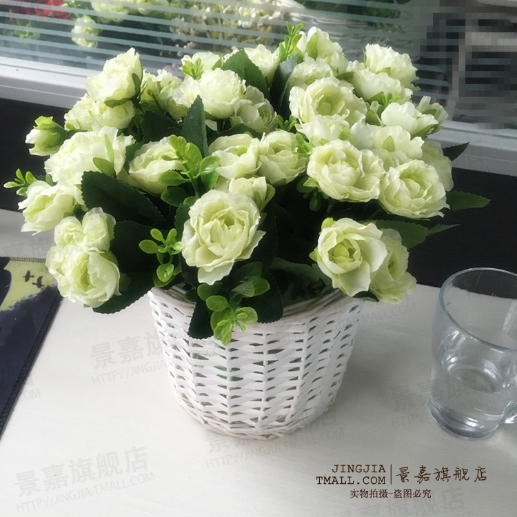 Artificial flowers simulation shrub rose silk flower artificial flowers placed floral living room simulation shrub roses