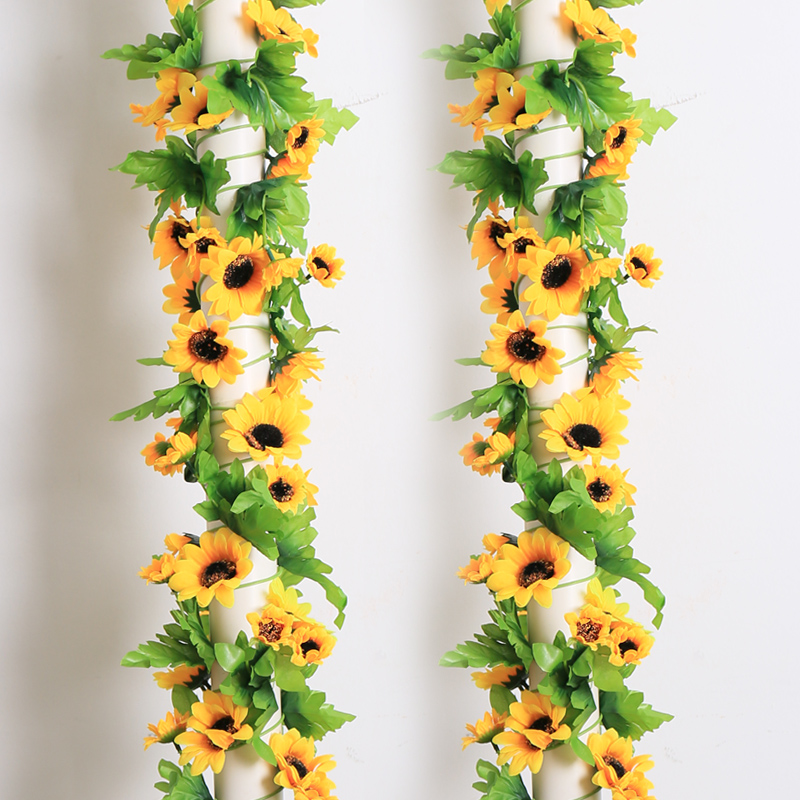 Artificial flowers sunflowers sunflower artificial flowers artificial flowers rattan vine flower vine simulation pipeline decorative flower plastic flower vine