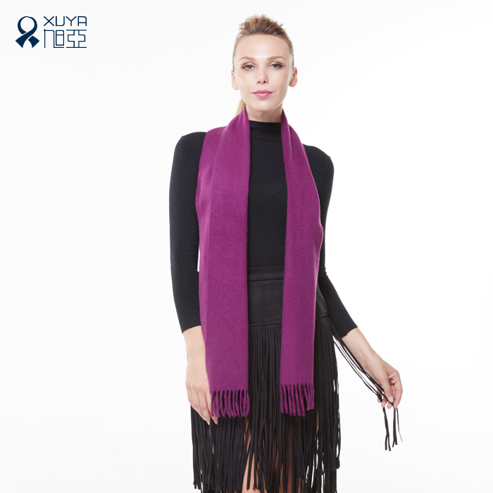 Asahi asia pure wool scarf female winter thick solid color scarf wool scarves korean version of the trend of fashion wild
