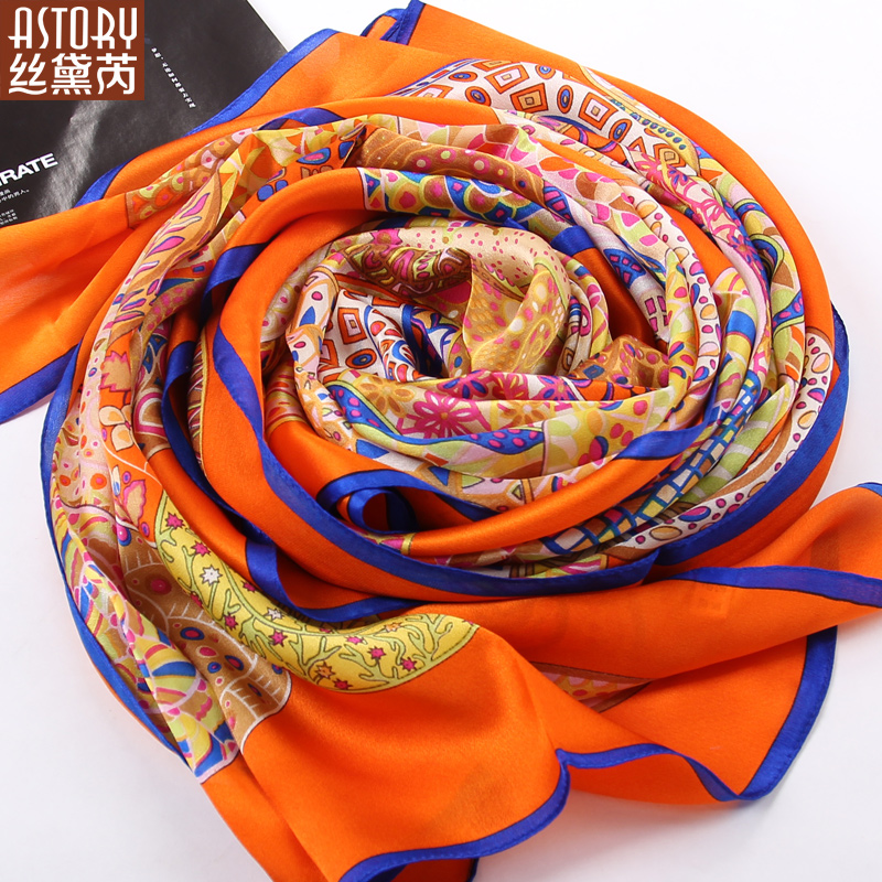 Astory100 % silk long section of the spring and autumn genuine silk scarf silk scarf silk scarf shawl new upscale