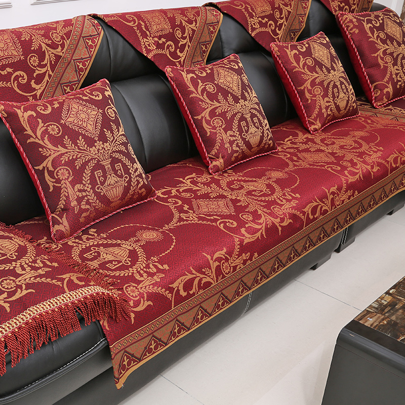 Athena european upscale leather sofa cushion four seasons fabric sofa cushion slip wood sofa cushion sofa cushion customized sets of towels