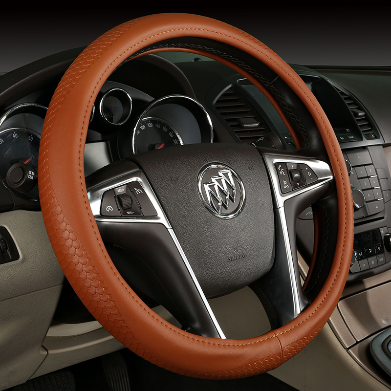 Audi a3 a4 a4l a5 a6l q3 q5 q7 a7 a8l special steering wheel cover handlebar sets of real leather