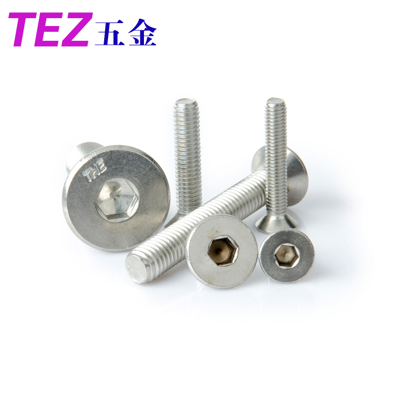 Authentic 304 stainless steel american countersunk head hexagon socket head cap screws 1/4-20 series
