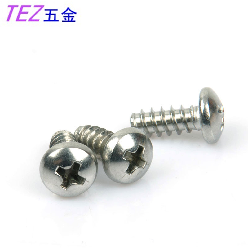 Authentic 304 stainless steel round head self tapping screws round hirao shank tapping screws m3 series