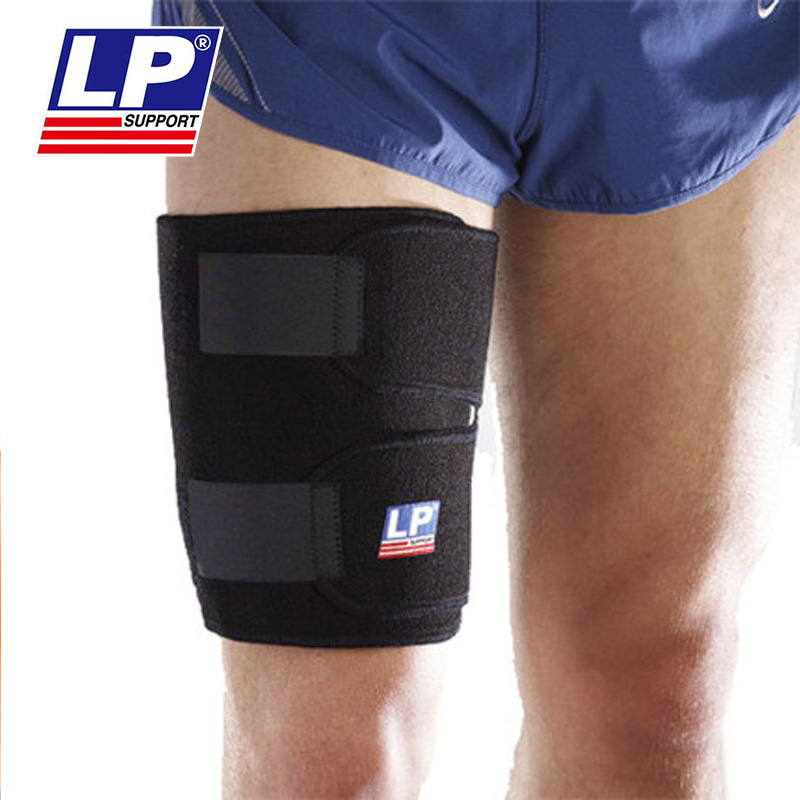 Authentic lp755 reduce muscle burden breathable basketball adjustable adhesive type legguard shipped move thigh strain protection