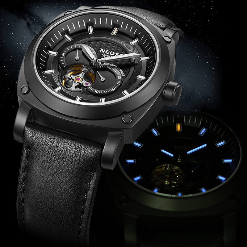Authentic military form das resistant waterproof male table luminous watch hollow men's watches automatic mechanical watch male sports men