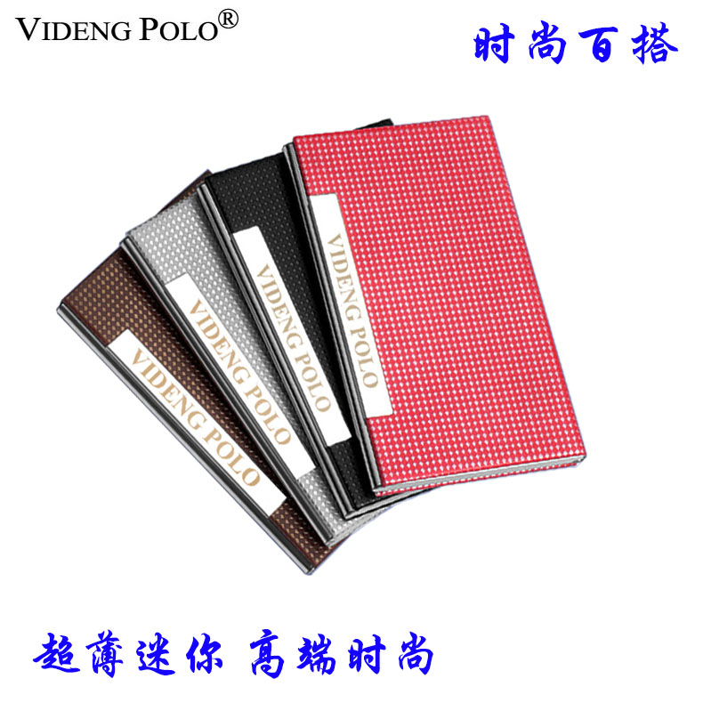 Authentic polo paul vuitton mens thin stainless steel business card holder upscale ladies fashion creative business card case