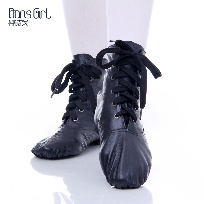 7797acb208d5c Get Quotations · Authentic practice shoes jazz dance shoes women soft  bottom shoes black high state shirtwaist interior leather