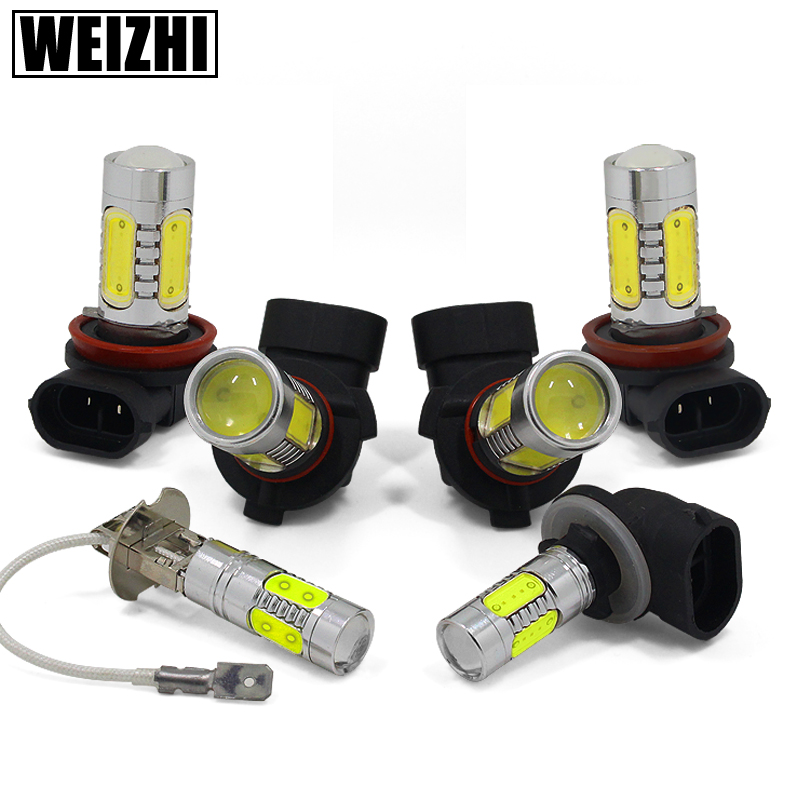 Automotive led fog light bulb h3 h7 h8 h10 h11 modified led front fog lamps highlight 9006 881