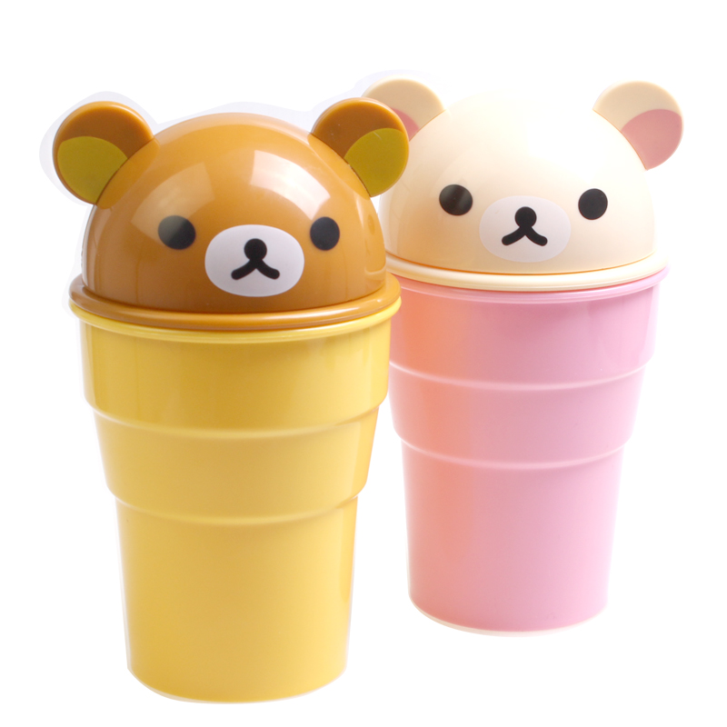 Automotive supplies car trash fashion creative trash barrel debris bucket compartment barrel cartoon cute bear upholstery