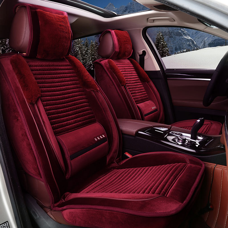 Autumn and winter comfortable plush cushion cover cadillac XT5/ct6/vw hui ang/rong wei rx5 seat cushion