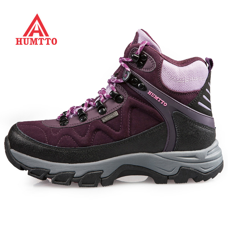 Autumn and winter defended passers couple hiking shoes plus velvet high shoes hiking shoes sports shoes waterproof slip outdoor shoes men