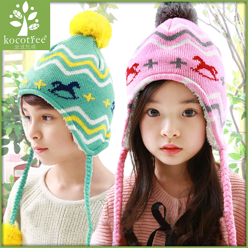 Autumn and winter korean baby hat lovely warm ear cap child hat winter hat tide baby hat for men and women tong