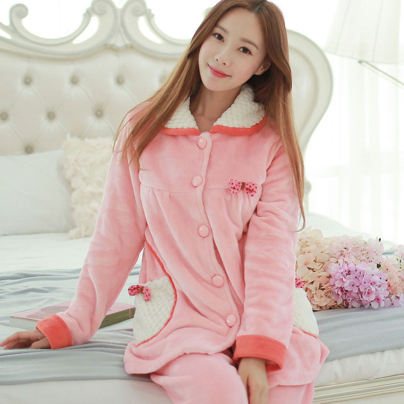 Get Quotations · Autumn and winter pajamas female ms. thick coral velvet  tracksuit cute cartoon dog long sleeve eef26c9d9