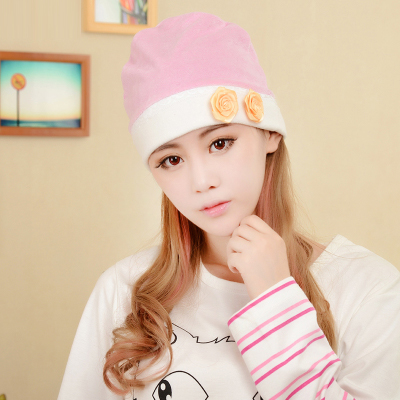 Autumn and winter thick anti head wind maternal postpartum month of month pregnant woman hat headband head towel maternal cap