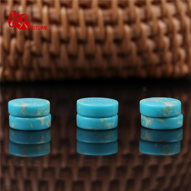 Autumn blue imperial stone optimization blue turquoise spacer spacer spacer beads with diy diamond xingyue accessories