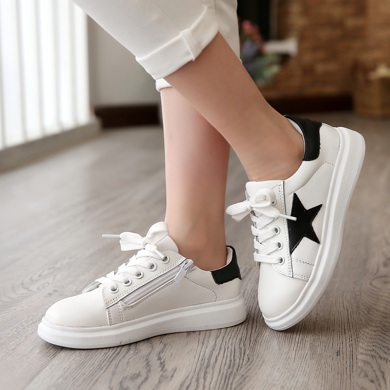 Autumn leather shoes women shoes autumn girls shoes casual shoes children's sports shoes white summer and autumn shoes boys shoes female big boy