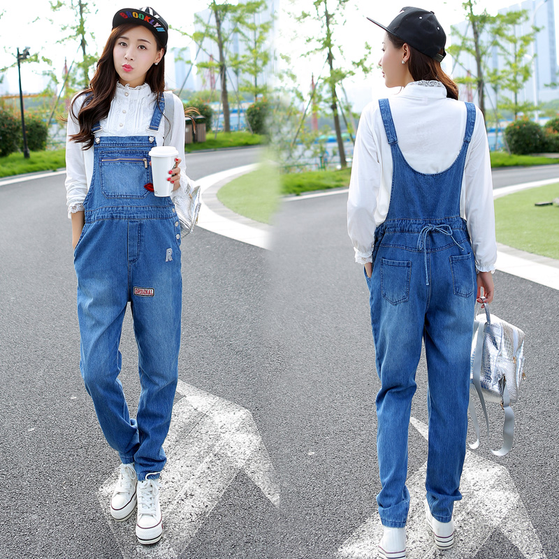 03b9db3775ae Get Quotations · Autumn maternity pregnant women overalls cotton trousers  care of pregnant women jeans pants fall pregnant maternity