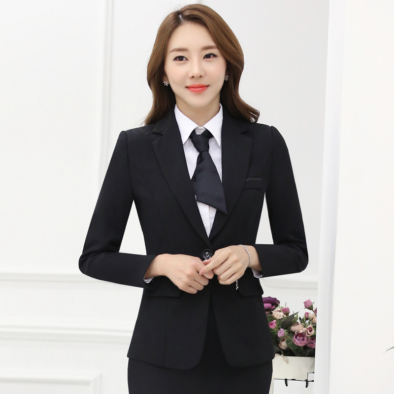 Autumn new women's wear suits hotel uniforms sleeved overalls west ol ladies wear dress suits women suits