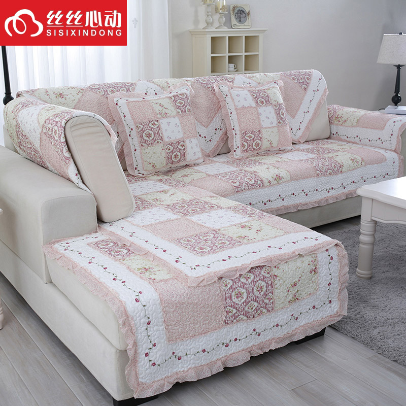 Available seasons pastoral fashion fabric cushion sofa cushion summer slip cushion sofa towel pastoral slipcover sofa cover specials