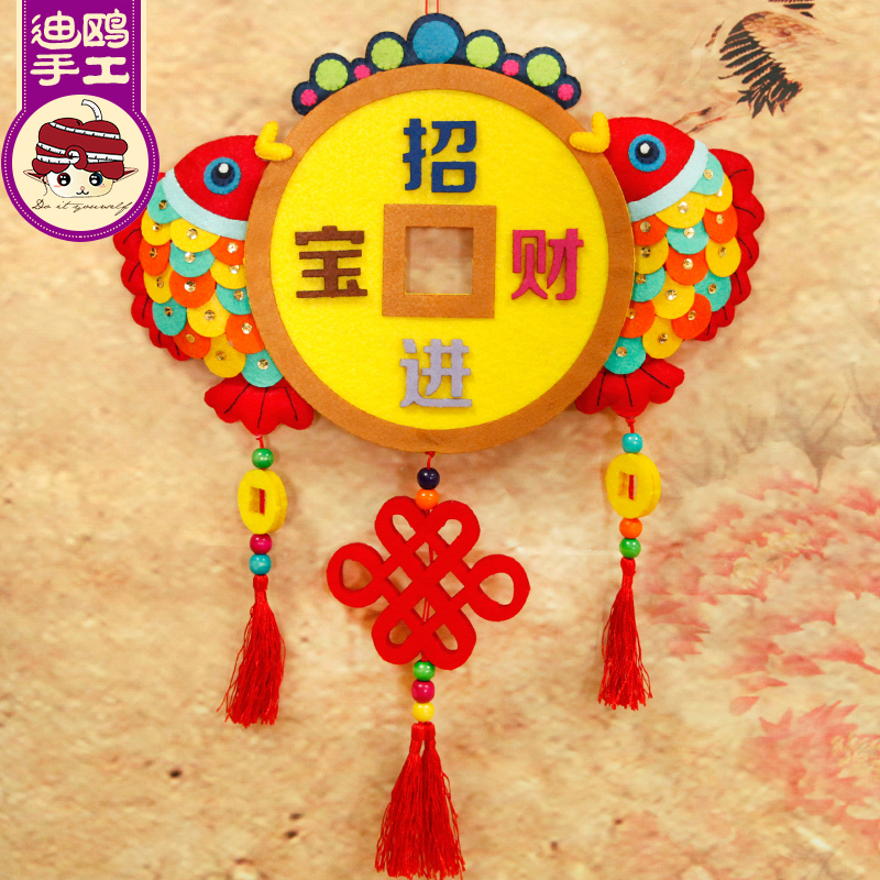 Avoid cutting di gull feast wall hanging pendant ornaments new year diy handmade cloth material
