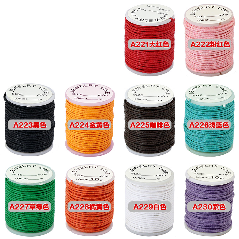 Awe cheap diy crystal beaded wire 1MM 10 m handmade braided rope wire rope wax wax lines
