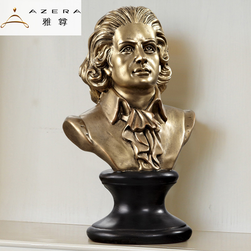 Azera euclidian musician beethoven mozart shakespeare celebrity sculpture ornaments ornaments home decorations