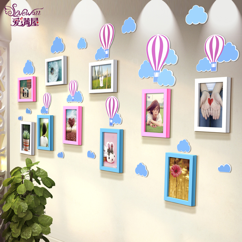 B'loon 7 inch wood frame wall dimensional wall stickers children's room decor nursery life according to art photo photo wall