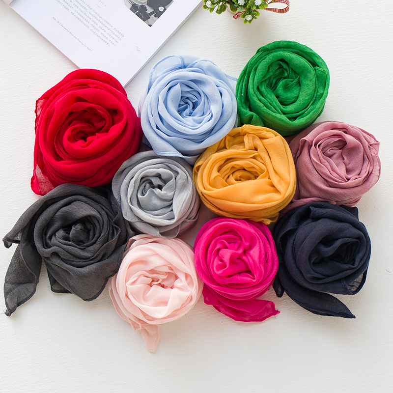 Baby boys and girls children's scarves scarf korean version of the solid color in autumn and winter warm silk scarf cotton scarf parenting models