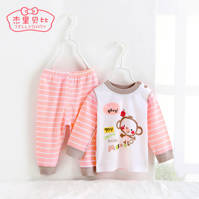 Baby clothes 2016 children's clothing autumn bottoming 0-1-year-old half old baby cotton underwear sets spring and autumn children