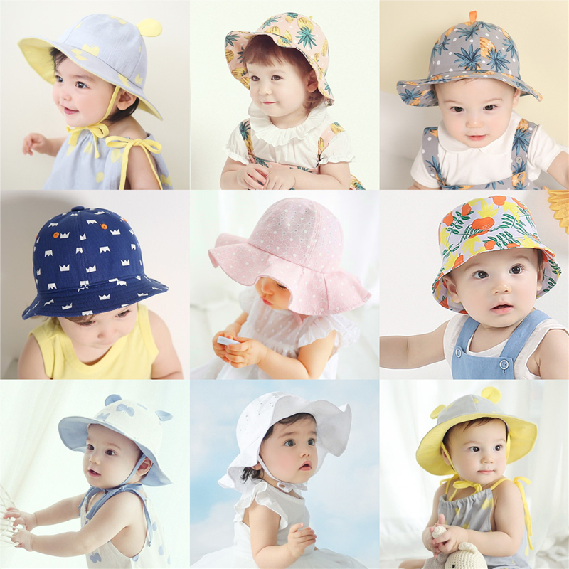 80a8d756e01 Get Quotations · Baby hat baby hat 1-2-year-old girls summer children sun  hat