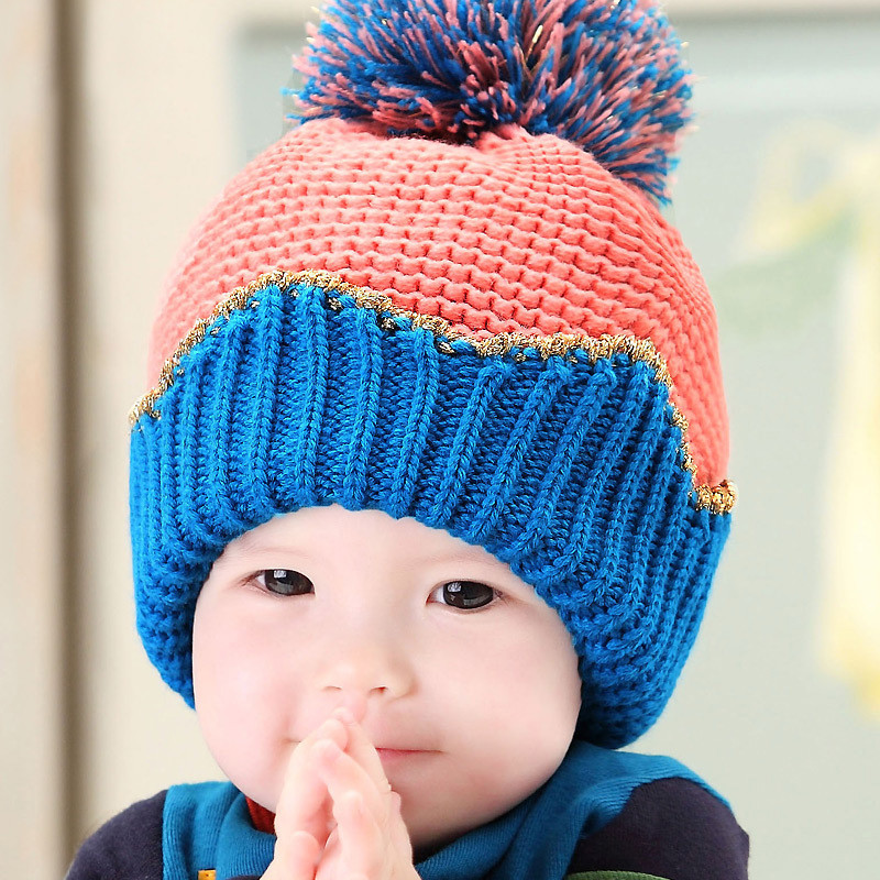 Get Quotations · Baby in autumn and winter hedging wool cap warm ear cap  beanie baby hat for boys 3ed262e741be