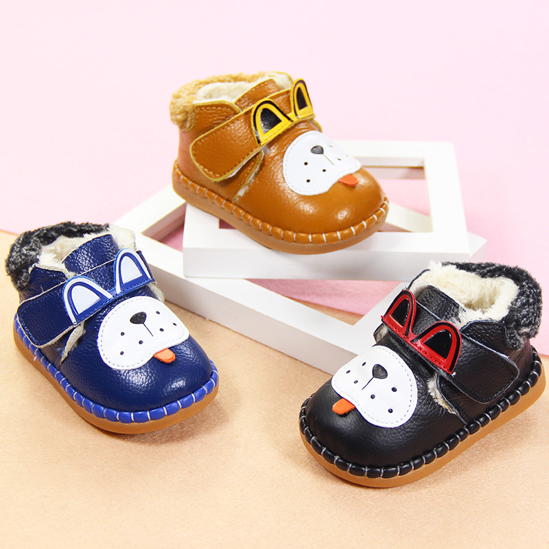 Baby shoes tabaci young baby thick padded soft bottom toddler shoes autumn and winter warm shoes 2 years old boys