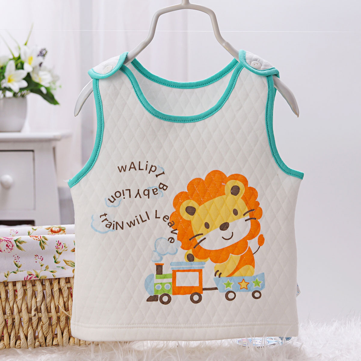 Baby vest cotton sleeveless vest bottoming autumn and winter underwear newborn baby warm vest for men and women spring dongkuan