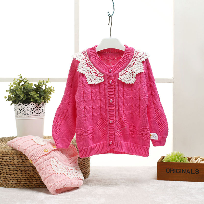 Baby winter wool cardigan sweater coat sweater autumn and winter female baby clothes children's knitted wool coat