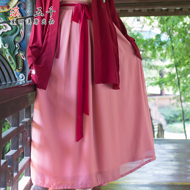 Back to the han and tang dynasties peak original brand men's everyday piece chiffon dress double single skirt han chinese clothing ladies