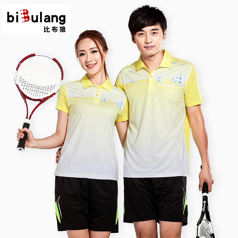 Badminton clothing suits for men and women badminton clothing shorts short sleeve lapel couple models wicking sportswear custom summer