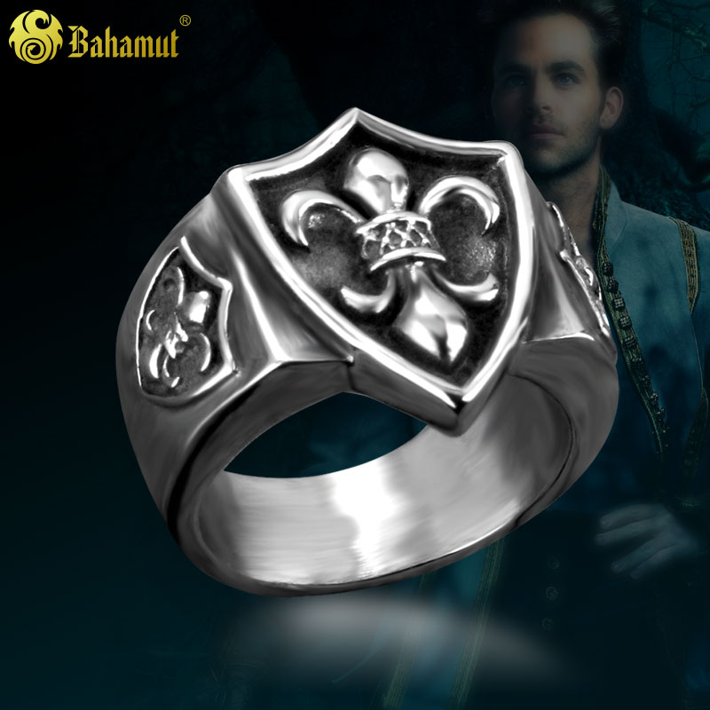 Bahamut titanium steel jewelry in europe and america fashion crown iris ring men's rings personalized ring ring ring male models