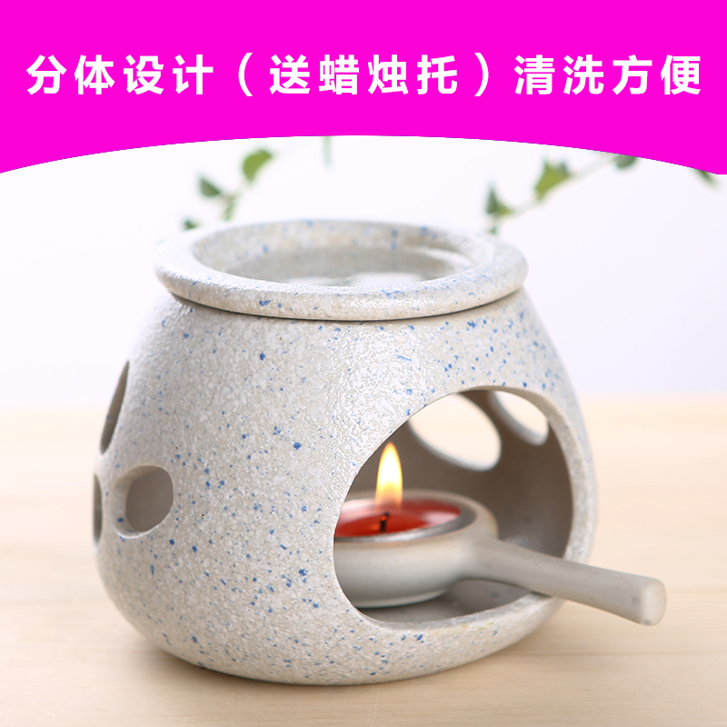 Bai di gao bedroom stoneware incense oil furnace vaporizer candlestick ceramic fragrance lamp oil lamp machine to send candle